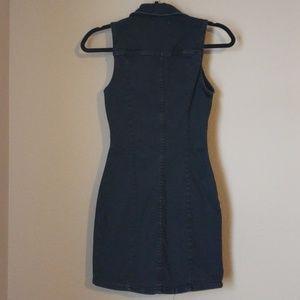 Zara Dresses - Zara Bodycon Sleevless Denim Dress